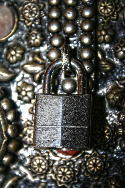 Photograph - Locked Metal Box by Lesa Fine