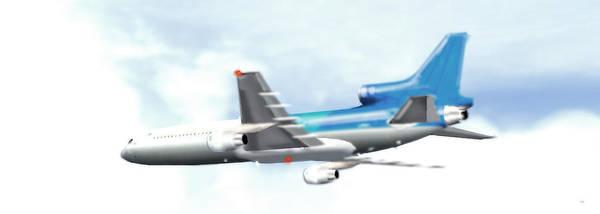 Prop Digital Art - Lockheed L-1011 Tristar by Marcello Cicchini
