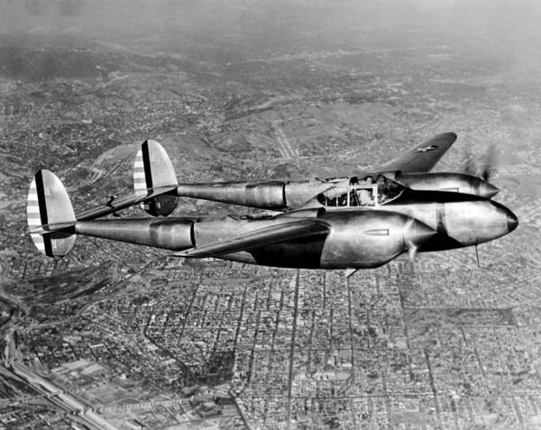Wall Art - Photograph - Lockheed P-38 Lightning Fighter by Underwood Archives