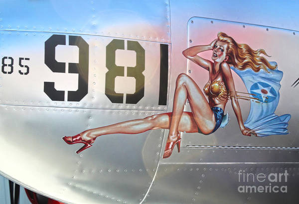 Photograph - Lockheed P-38l Lightning Honey Bunny Nose Art - 01 by Gregory Dyer