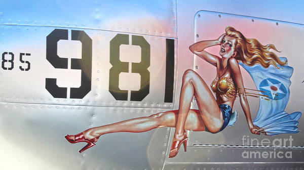 Photograph - Lockheed P-38l Lightning Honey Bunny Nose Art - 02 by Gregory Dyer
