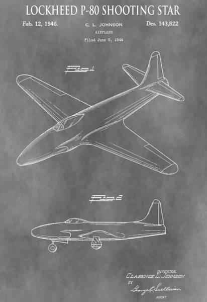 Shooting Mixed Media - Lockheed P-80 Shooting Star by Dan Sproul