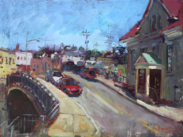Canal Wall Art - Painting - Lockport City by Ylli Haruni