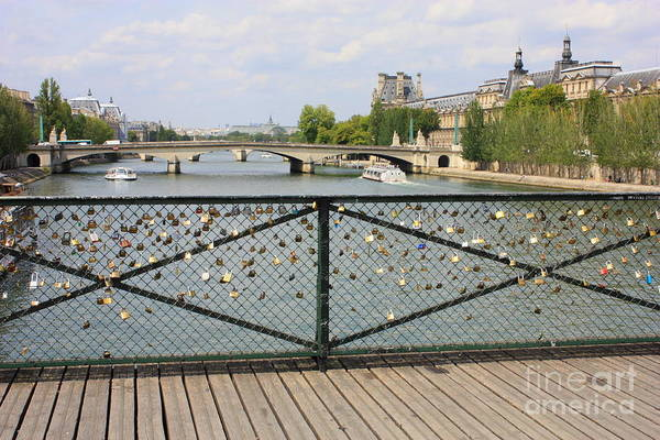 Photograph - Locks Of Love Over The Seine by Carol Groenen
