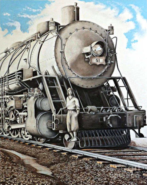 Drawing - Locomotion 1927 by David Neace
