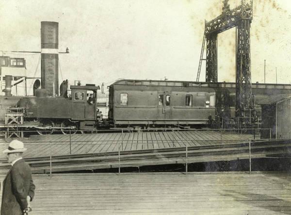 Locomotive Drawing - Locomotive And Train At A Railway Yard, Anonymous by Artokoloro