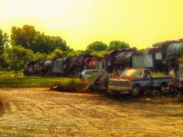Wall Art - Photograph - Locomotive Graveyard by Thomas Woolworth
