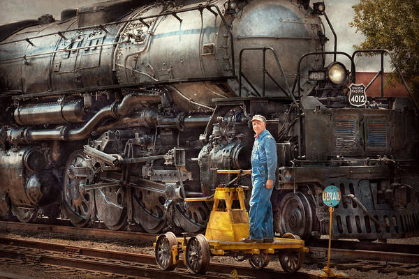 Photograph - Locomotive - The Gandy Dancer  by Mike Savad