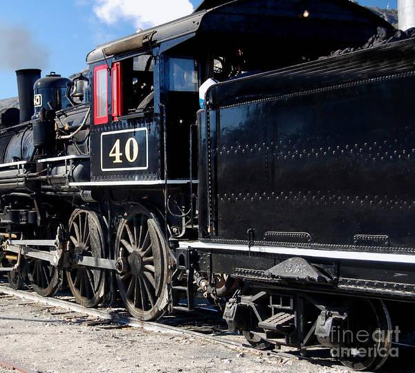 Photograph - Locomotive With Tender by Gunter Nezhoda