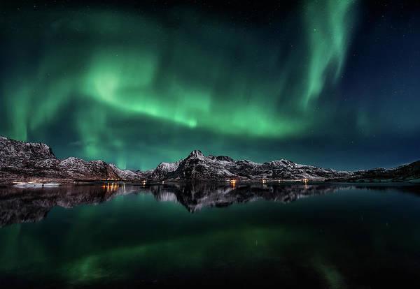 Aurora Wall Art - Photograph - Lofoten Aurora Reflection by Javier De La