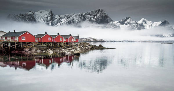 Red Mountain Photograph - Lofoten by Lior Yaakobi