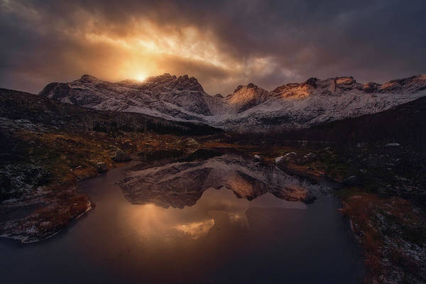 Wall Art - Photograph - Lofoten Mountains by Inigo Cia
