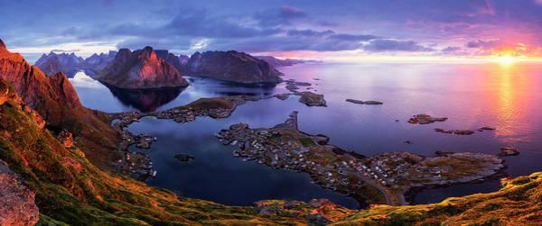 Calm Sea Photograph - Lofoten Sunrise by Sorin Tanase