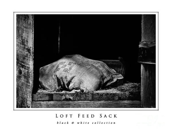 Knot Hole Photograph - Loft Feed Sack  Black And White Collection by Greg Jackson