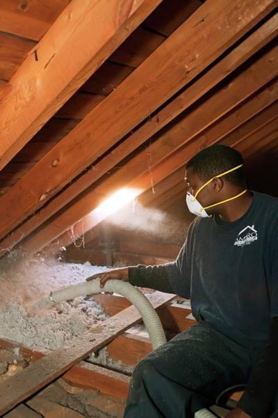 Energy-saving Wall Art - Photograph - Loft Insulation by Jim West