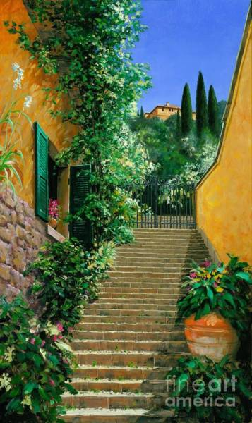 Lake Como Painting - Lofty Heights by Michael Swanson