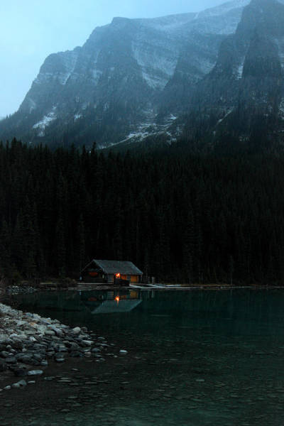Photograph - Log Cabin By The Lake by Pierre Leclerc Photography