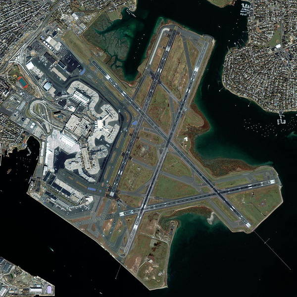 Runway Photograph - Logan International Airport by Geoeye/science Photo Library