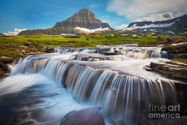 Photograph - Logan Pass Falls by Inge Johnsson