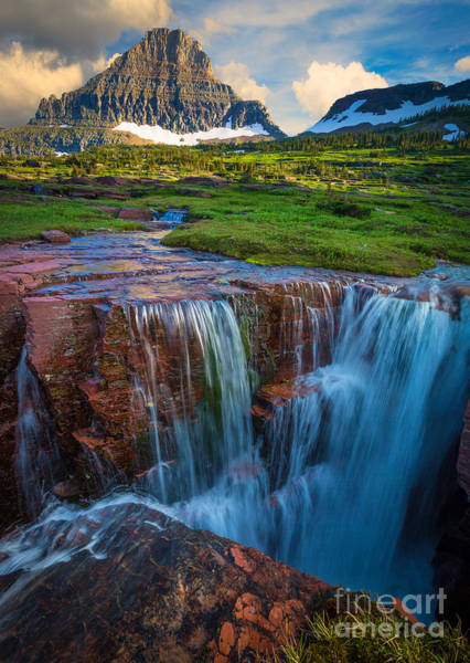 Triples Photograph - Logan Pass Sunset by Inge Johnsson
