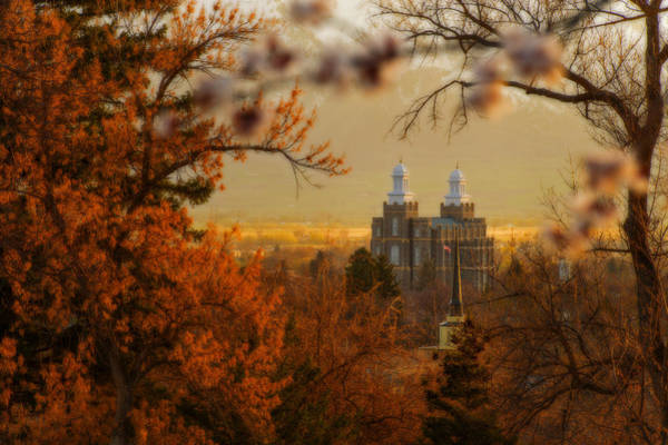Art Print featuring the photograph Logan Temple by Dustin  LeFevre