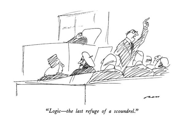 1987 Drawing - Logic - The Last Refuge Of A Scoundrel by Al Ross