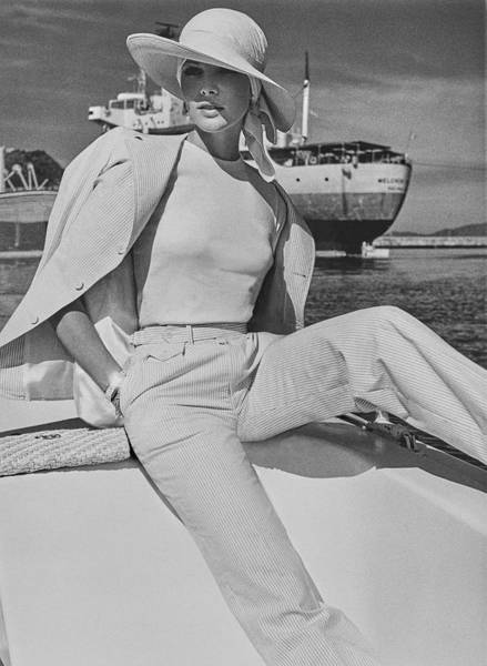 Wall Art - Photograph - Lois Chiles Sits Dockside In Manzanillo Wearing by Chris von Wangenheim