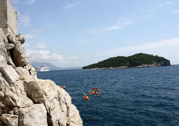 Lokrum Photograph - Lokrum From  Buza by David Nicholls