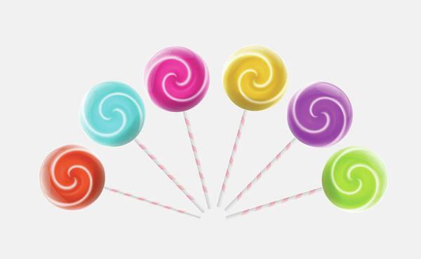 Cut-out Digital Art - Lollipops by Fitie