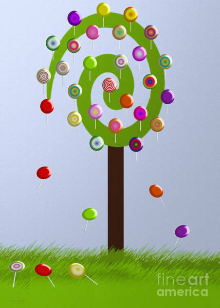 Digital Art - Lolly Pop Tree by Andee Design