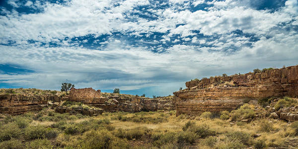 Photograph - Lomaki Pueblo In Box Canyon by Chris Bordeleau