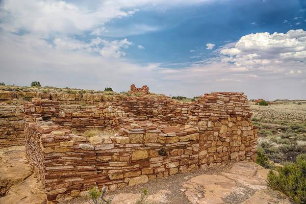 Photograph - Lomaki Pueblo Ruins by Chris Bordeleau