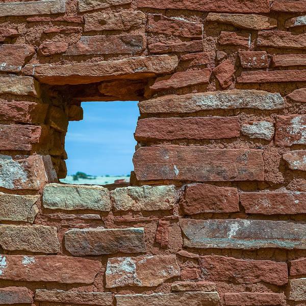 Photograph - Lomaki Pueblo Window by Chris Bordeleau