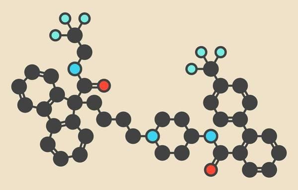Cholesterol Photograph - Lomitapide Cholesterol Drug Molecule by Molekuul