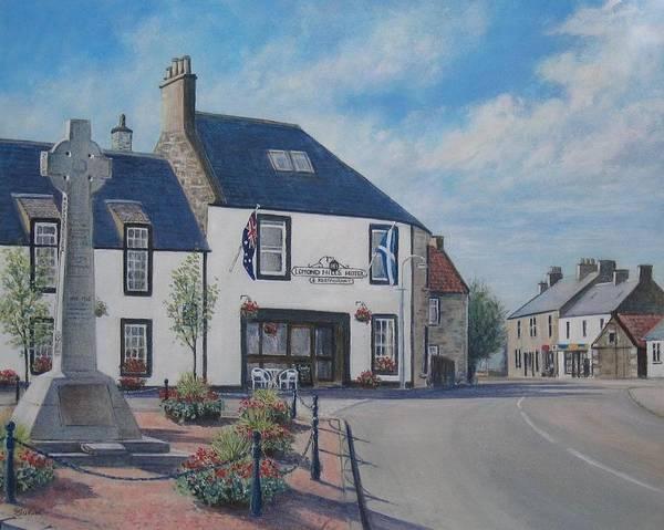 Fife Painting - Lomond Hills Hotel Freuchie by Stella Turner