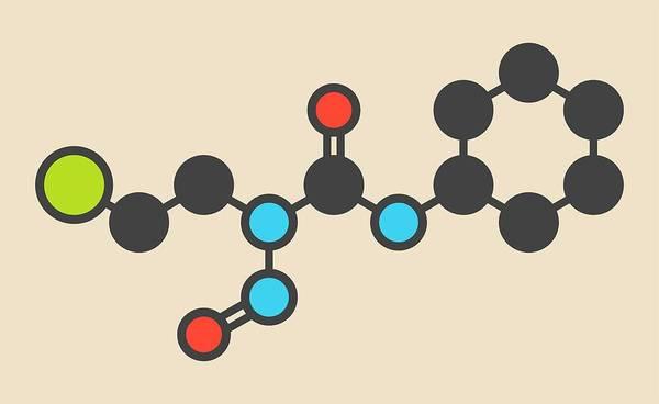 Brain Cancer Wall Art - Photograph - Lomustine Brain Cancer Drug Molecule by Molekuul