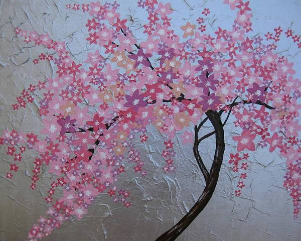Cathy Painting - London Blossoms by Cathy Jacobs