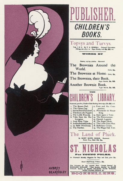 Beardsley Drawing - London Bookseller's Poster (though by Mary Evans Picture Library