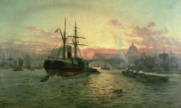 Charles River Wall Art - Painting - London Bridge by Charles John de Lacy