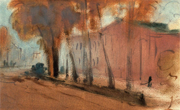 Wall Art - Painting - London, Building With Trees Study For Chelsea Embankment by Litz Collection