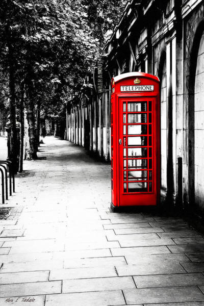 London Calling - Red Telephone Box Art Print