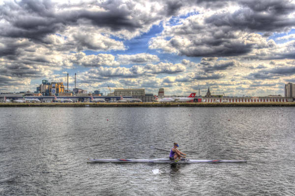 Wall Art - Photograph - London City Airport Sculler by David Pyatt