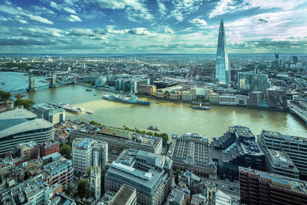 English Culture Photograph - London Cityscape by Peter Zelei Images