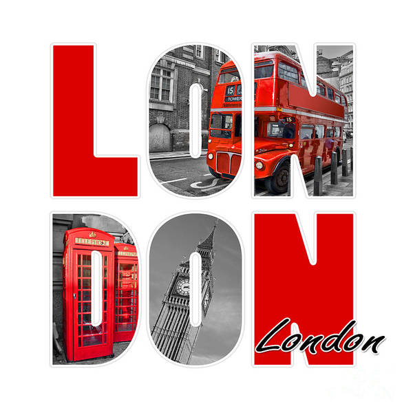 London Phone Booth Wall Art - Photograph - London by Delphimages Photo Creations