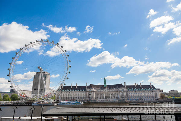 Photograph - London Eye And County Hall Across River Thames. by Peter Noyce