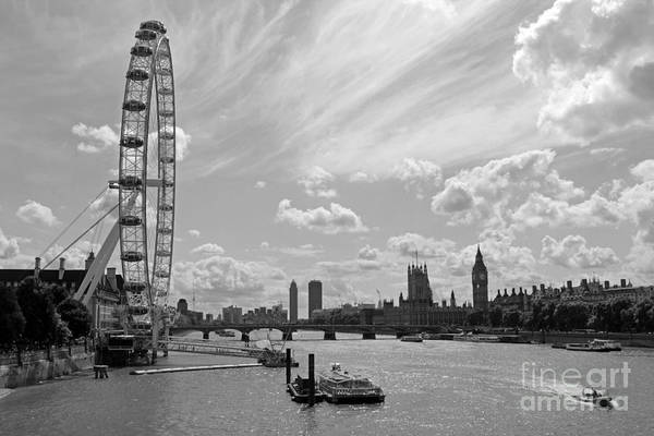 Photograph - London Eye And Houses Of Parliament by Julia Gavin