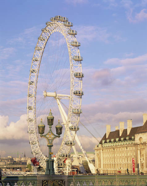 London Eye Photograph - London Eye by Andy Williams/science Photo Library