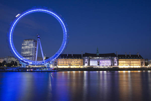 Photograph - London Eye At Night by Nathan Rupert