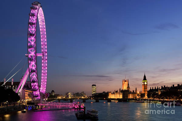Parliament Photograph - London Eye by Rod McLean