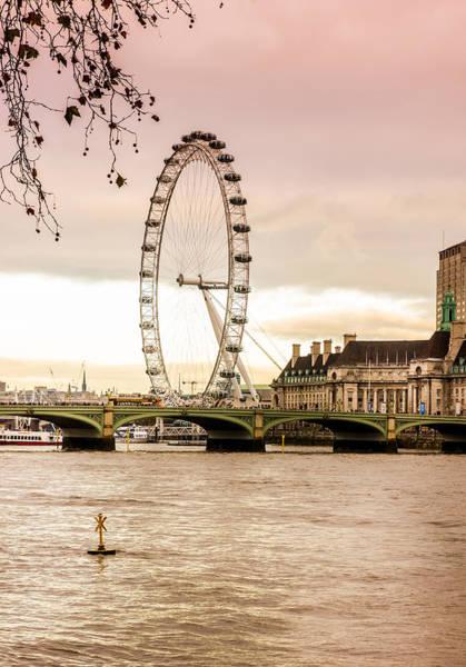 Wall Art - Photograph - London Eye Vertical by Pati Photography